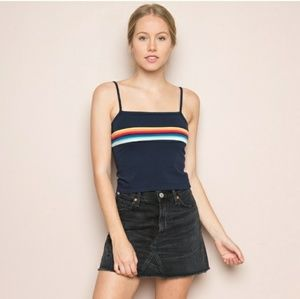 NWT Brandy Melville Faye Top in Rainbow